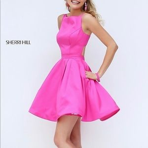 🎀🎀Sherri Hill pink cocktail elegant dress 🎀🎀